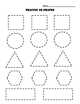 Tracing 2d shapes by erika ann teachers pay teachers for Shape tracing templates