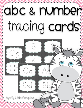 Tracing ABCs and Numbers-Great for Centers
