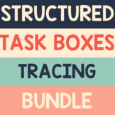 Tracing Activities Bundle TASK BOXES Special Ed, Preschool, Pre-K, Kindergarten