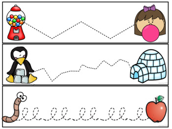 Tracing Activities fine motor skills and tracking