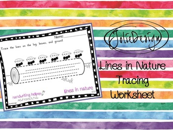 Tracing Activity - Lines in Nature Ants On A Log Pre-Writing Worksheet