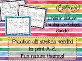 Tracing Activity - Lines in Nature Pre-Writing Worksheets