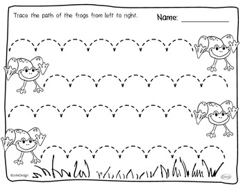 Tracing Activity - Lines in Spring Pre-Writing Worksheet ...