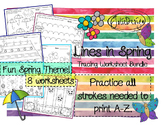 Tracing Activity - Lines in Spring Pre-Writing Worksheets