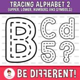 Tracing Alphabet Clipart Letters 2 Fine Motor Skills Penci