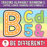 Tracing Alphabet Clipart Letters Rainbow Fine Motor Skill Pencil Control Rainbow