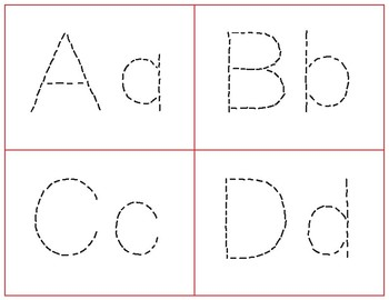Tracing Alphabet Task Cards