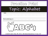 Tracing - Alphabet sheets