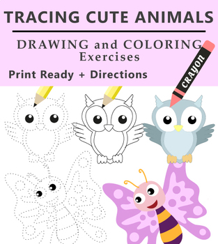 Tracing Animals - Drawing Practice