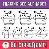 Tracing Bee Alphabet Clipart