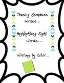 Writing and Tracing Bible Verses