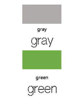 Tracing Book - Color Names