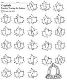 Tracing Capital Letters (Leaves)