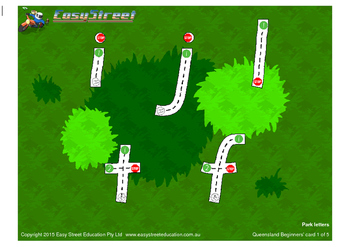Tracing Card: Beginners lowercase by Easy Street to Handwriting.