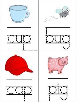 Letters and CVC Words Tracing Cards for Fine Motor Skills & Handwriting
