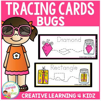 Tracing Cards Bug Set Fine Motor Skills