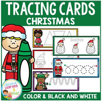 Tracing Cards Christmas Set Fine Motor Skills