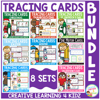 Tracing Cards Fine Motor Skills Bundle