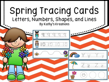 Tracing Cards -Spring (Letters, Numbers, Shape and Lines)