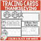 Tracing Cards Thanksgiving Set Fine Motor Skills