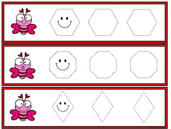 Tracing Cards -Valentine (Letters, Numbers, Shape and Lines)