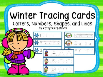 Tracing Cards -Winter (Letters, Numbers, Shape and Lines)