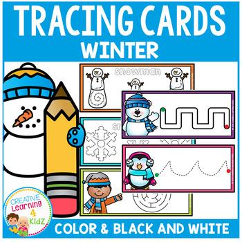 Tracing Cards Winter Set Fine Motor Skills
