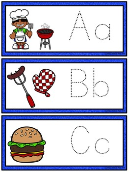 Tracing Cards for Letters, Numbers, Shapes, and Lines - Backyard BBQ