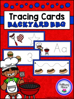 Tracing Cards for Letters, Numbers, Shapes, and Lines - Ba