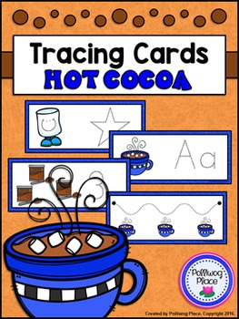 Tracing Cards for Letters, Numbers, Shapes, and Lines - Hot Cocoa