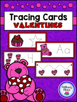 Tracing Cards for Letters, Numbers, Shapes, and Lines - Valentine's Day