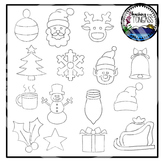 Tracing and Pinning Christmas Clipart