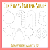 Tracing Christmas Shapes for Fine Motor Control or Christmas Shapes to Cut Out
