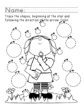 Tracing Circles Worksheet--Blowing Bubbles