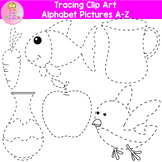 Tracing Clip Art- Alphabet Pictures A-Z