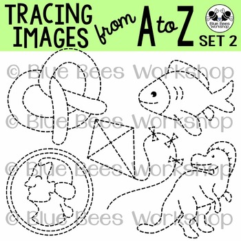 Tracing Clip Art - Traceable Pictures from A to Z (Set 2)