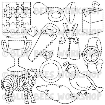Tracing Clip Art - Traceable Pictures from A to Z (Set 3)