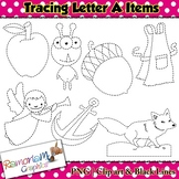 Tracing Clip art Letter A