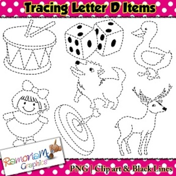 Tracing Clip art Letter D pictures