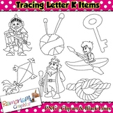 Tracing Clip art Letter K pictures