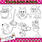 Tracing Clip art Letter M pictures