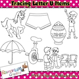 Tracing Clip art Letter U pictures