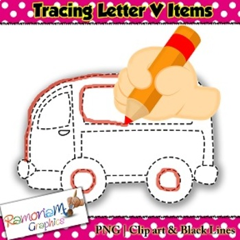 Tracing Clip art Letter V pictures