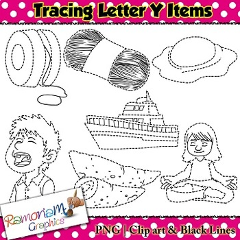 Tracing Clip art Letter Y pictures