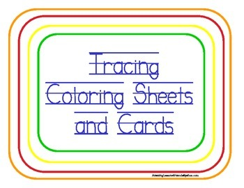 Tracing Coloring Sheets and Cards