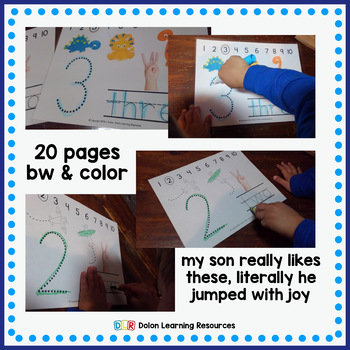 Tracing & Counting Worksheets
