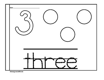 Tracing, Counting and Recognizing Numbers Book