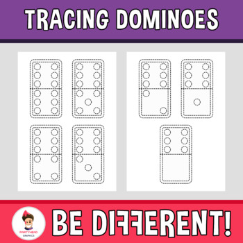 Tracing Dominoes Clipart