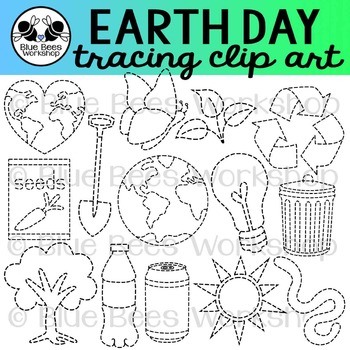 Tracing Earth Day Clip Art