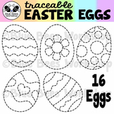 Tracing Easter Eggs Clip Art